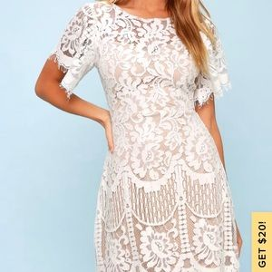 Lulus Pearson White Lace Dress - NEVER WORN